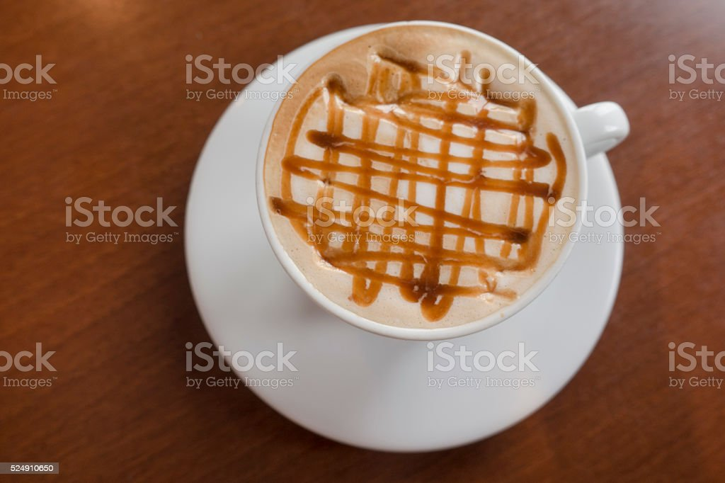 Caramel Macchiato Coffee Latte stock photo