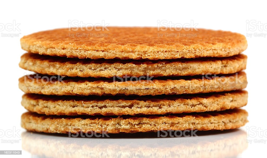 Caramel Wafer stock photo