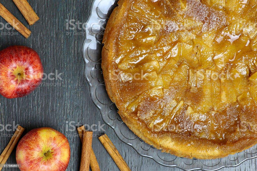 Caramelised Apple Tart Tartin Fancy Cake Pie stock photo