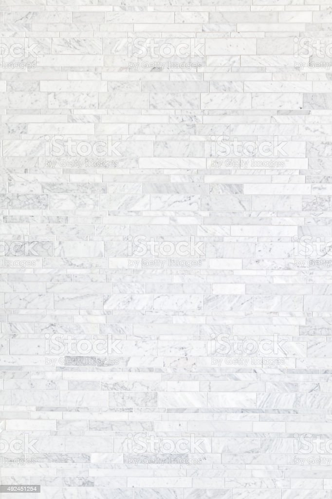 Cararra White Marble Tile Background Pattern Texture stock photo