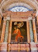 Caravaggio's painting in Church of San Luigi dei Francesi, Rome