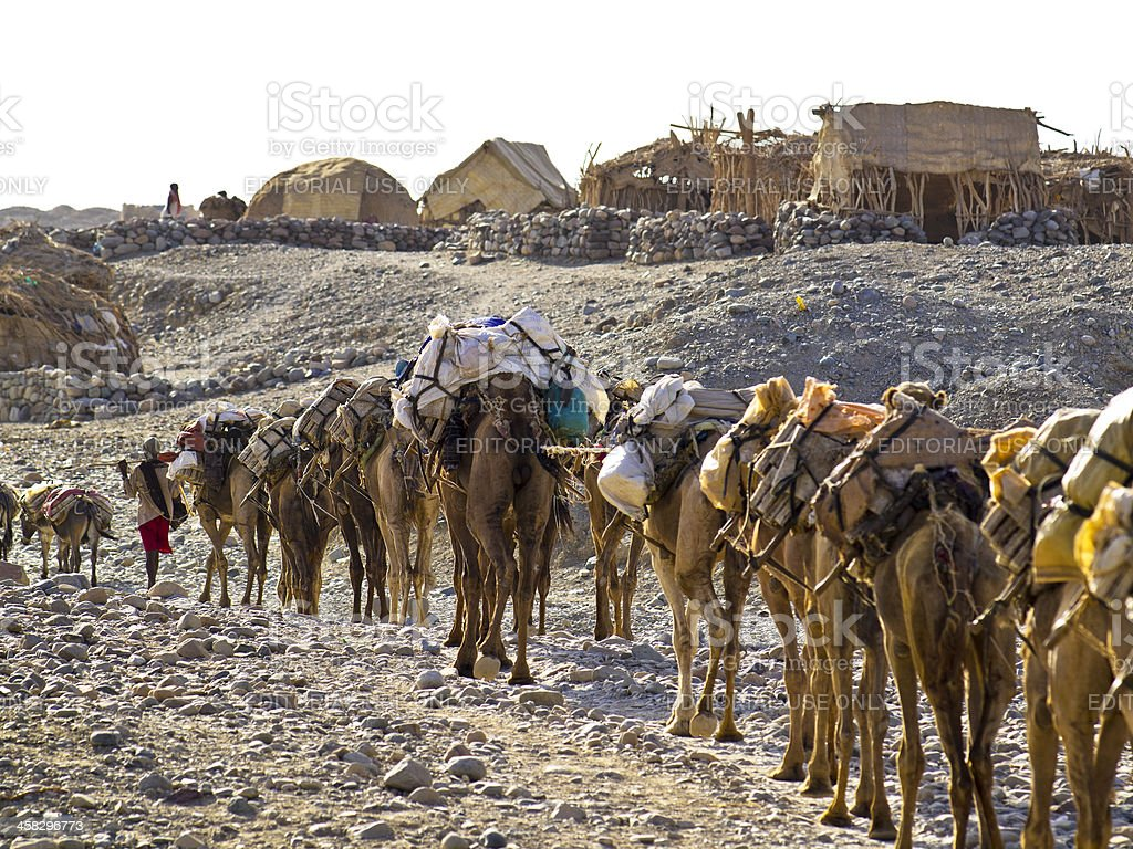 Caravan in Hamed Ela stock photo