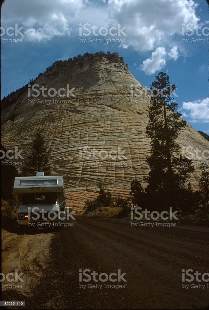 Caravan, Kansas 1975 stock photo