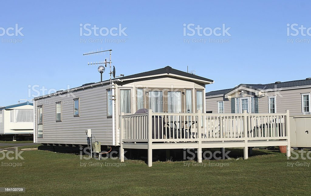 Caravan park royalty-free stock photo