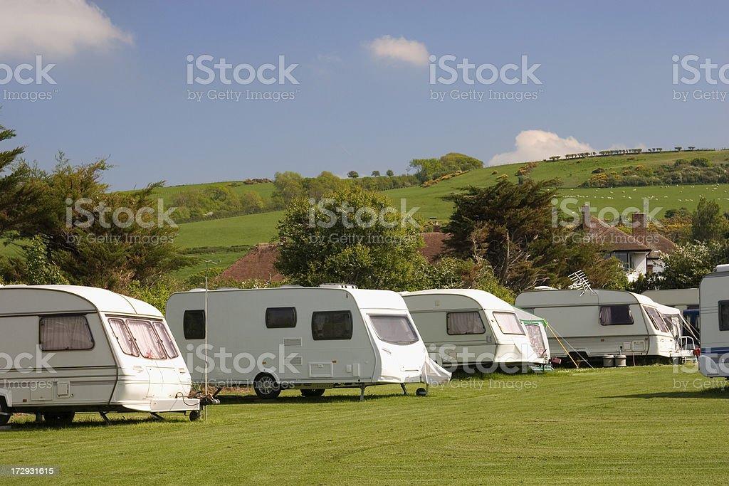 Caravan park royalty-free stock photo