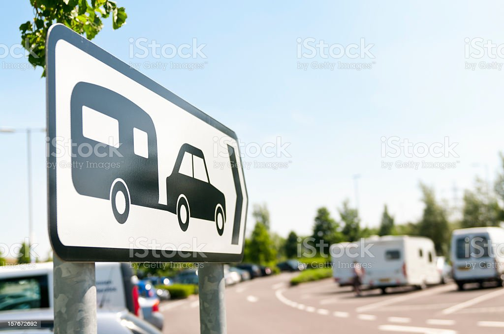 Caravan Sign stock photo