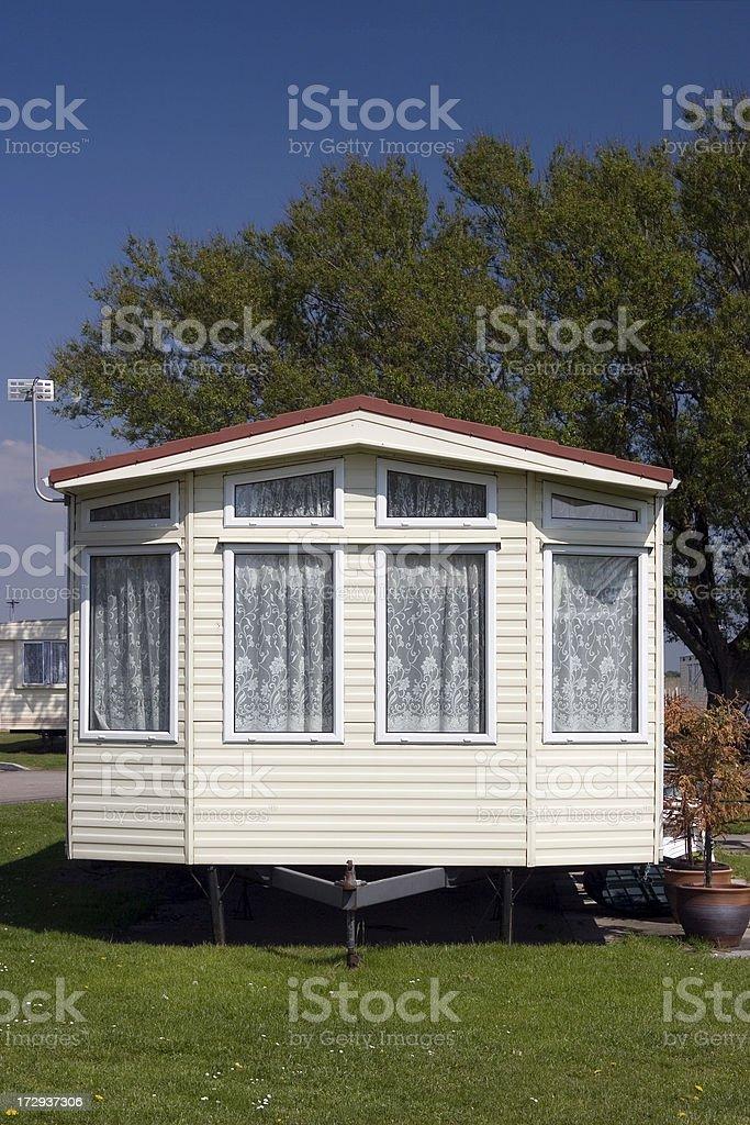 Caravan, static holiday home royalty-free stock photo