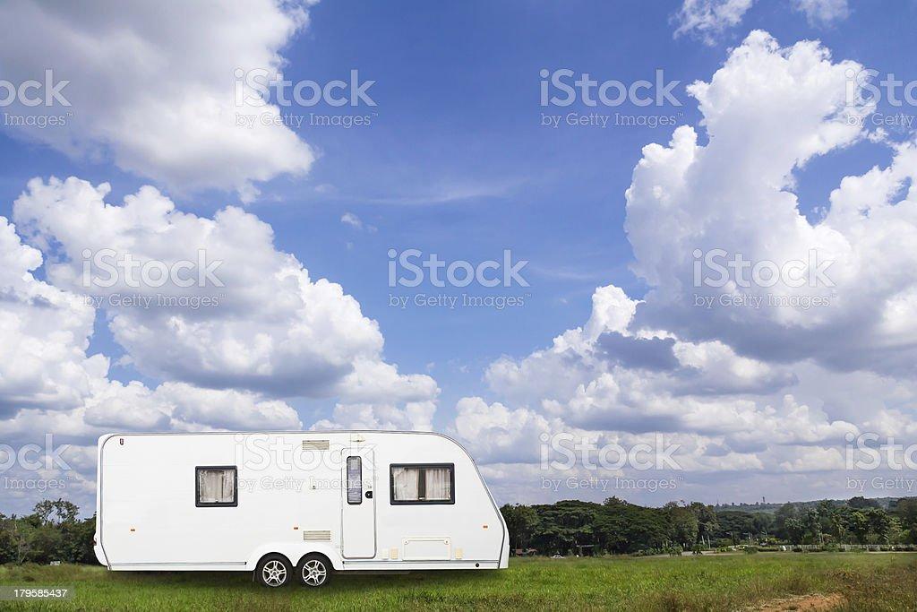 Caravans camping royalty-free stock photo