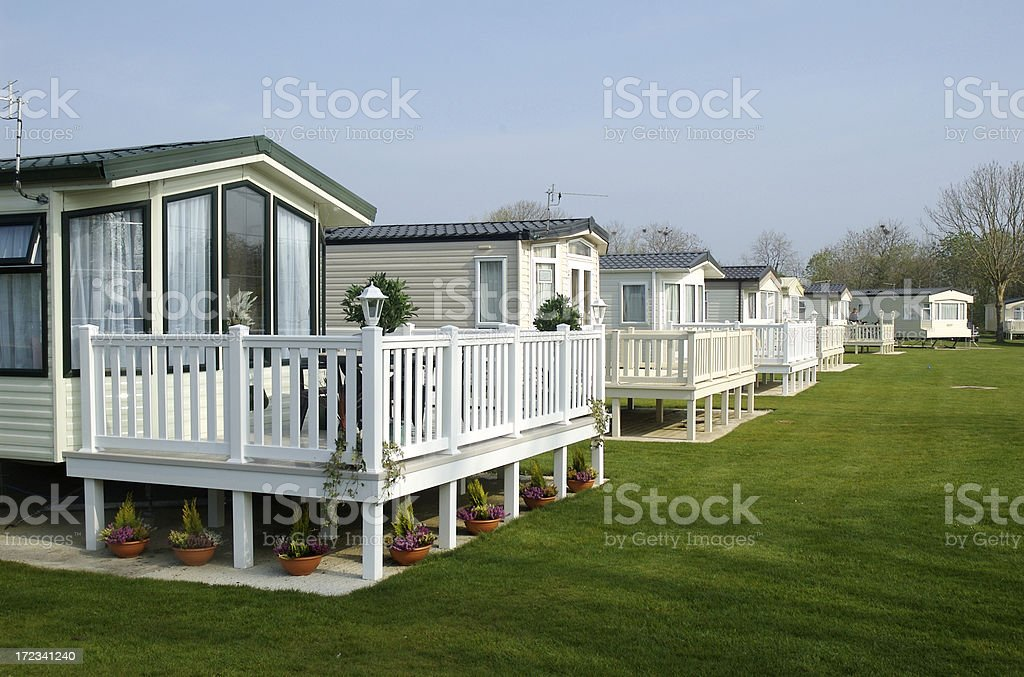Caravans stock photo