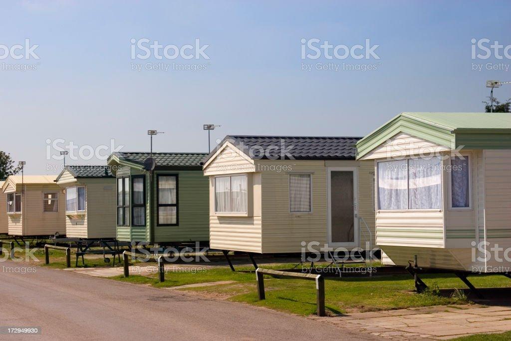 Caravans / trailer park royalty-free stock photo