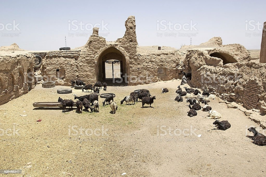 Caravanserai stock photo