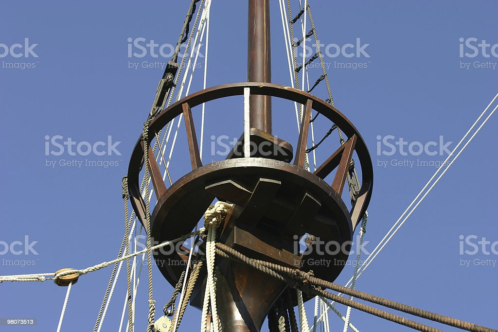Caravel - Detail of the topsail stock photo