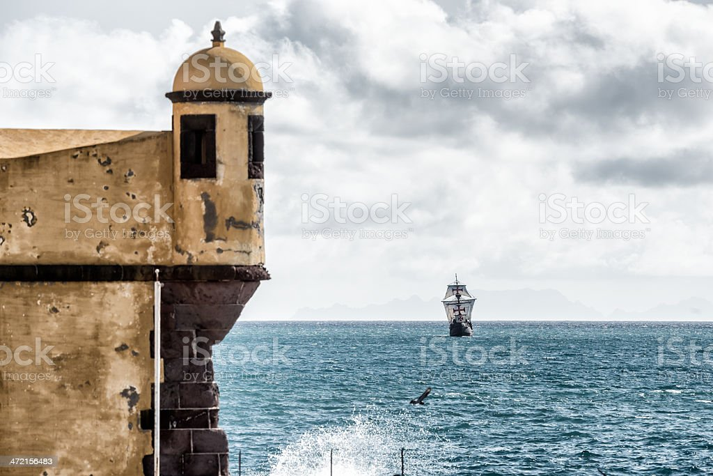 Caravel, fortress  , Funchal, Madeira. stock photo