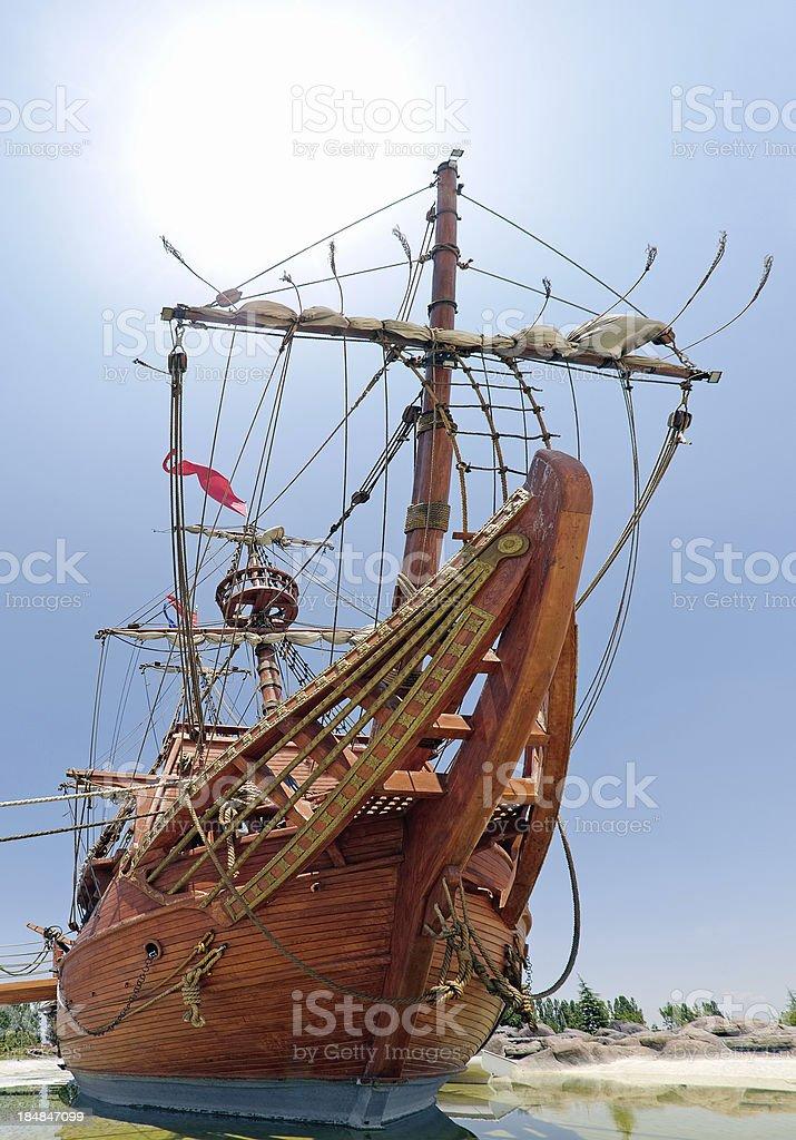Caravel royalty-free stock photo