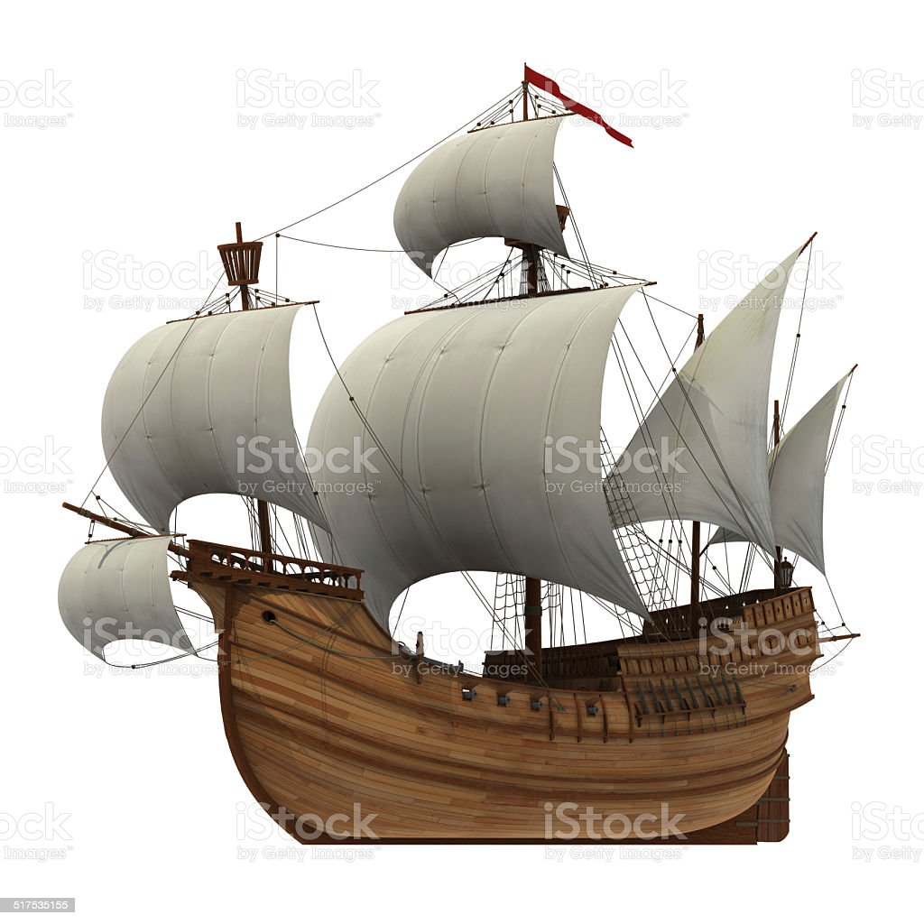 Caravel stock photo