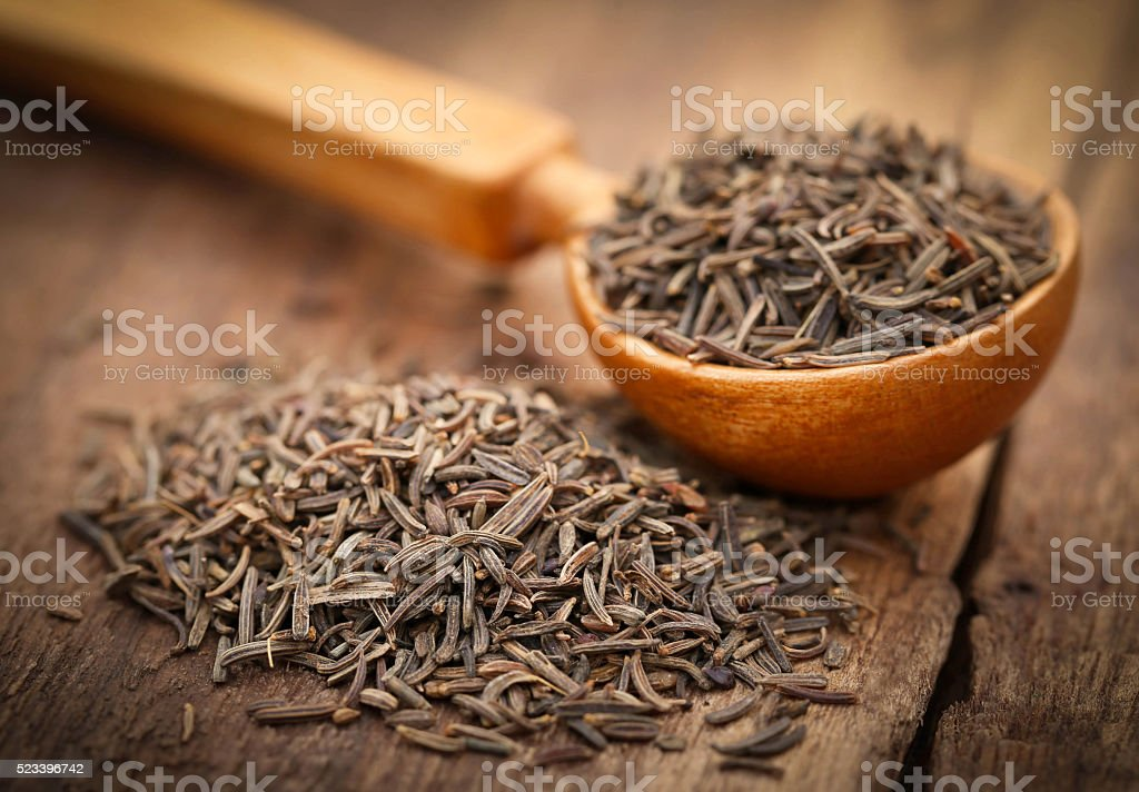Caraway seeds stock photo