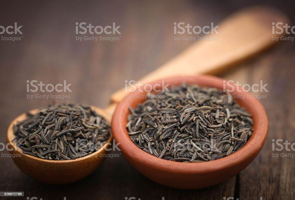 Caraway seeds stock photo