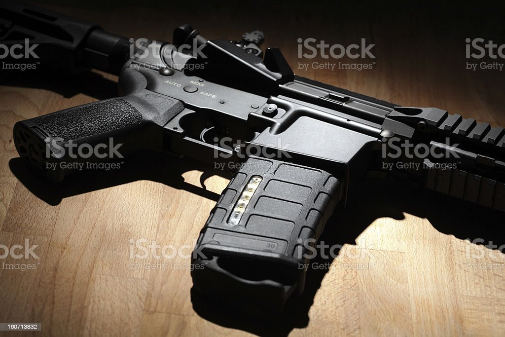 AR-15 (M4A1) carbine close-up stock photo