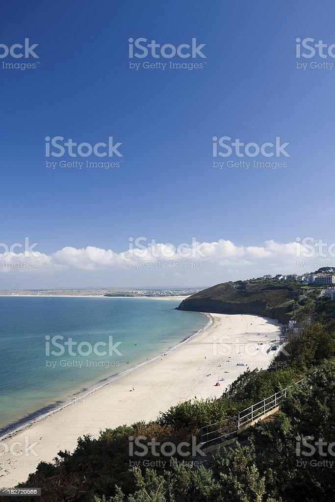 Carbis Bay beach near St Ives in Cornwall, England stock photo