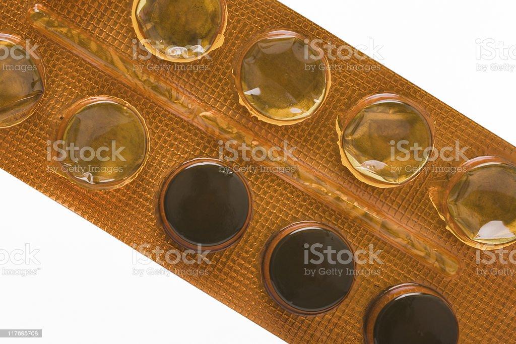 carbo medicinalis pills royalty-free stock photo