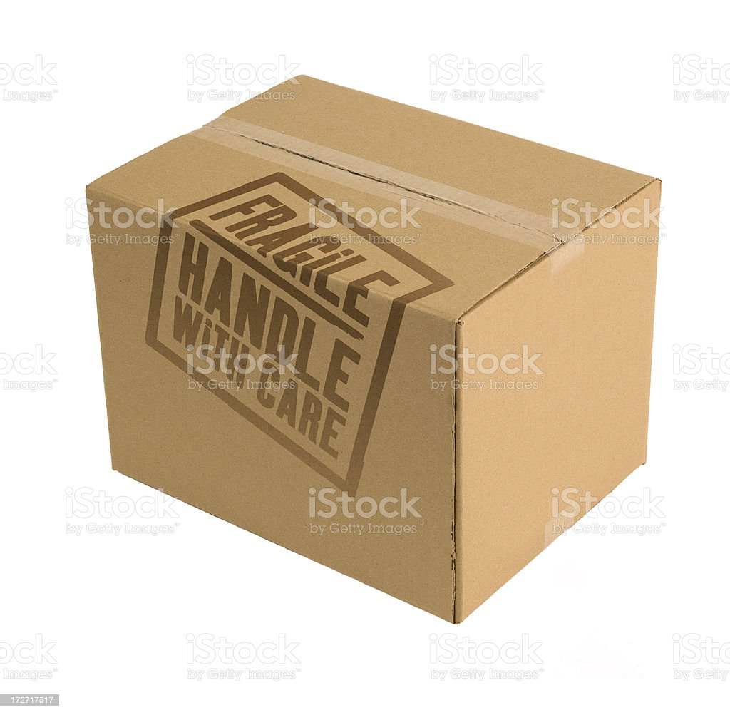Carboard Box Fragile stock photo