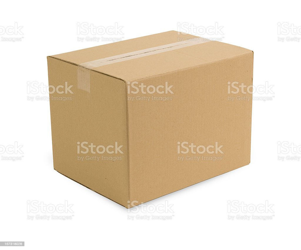 Carboard Box w/Clippping Path royalty-free stock photo