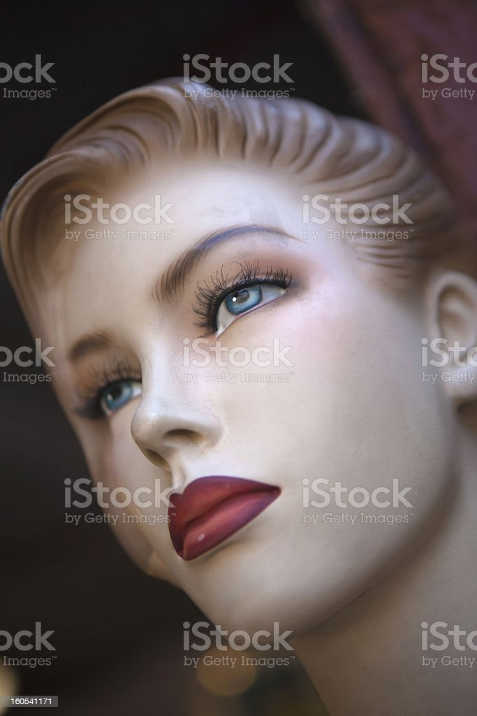 Carboard mannequin royalty-free stock photo
