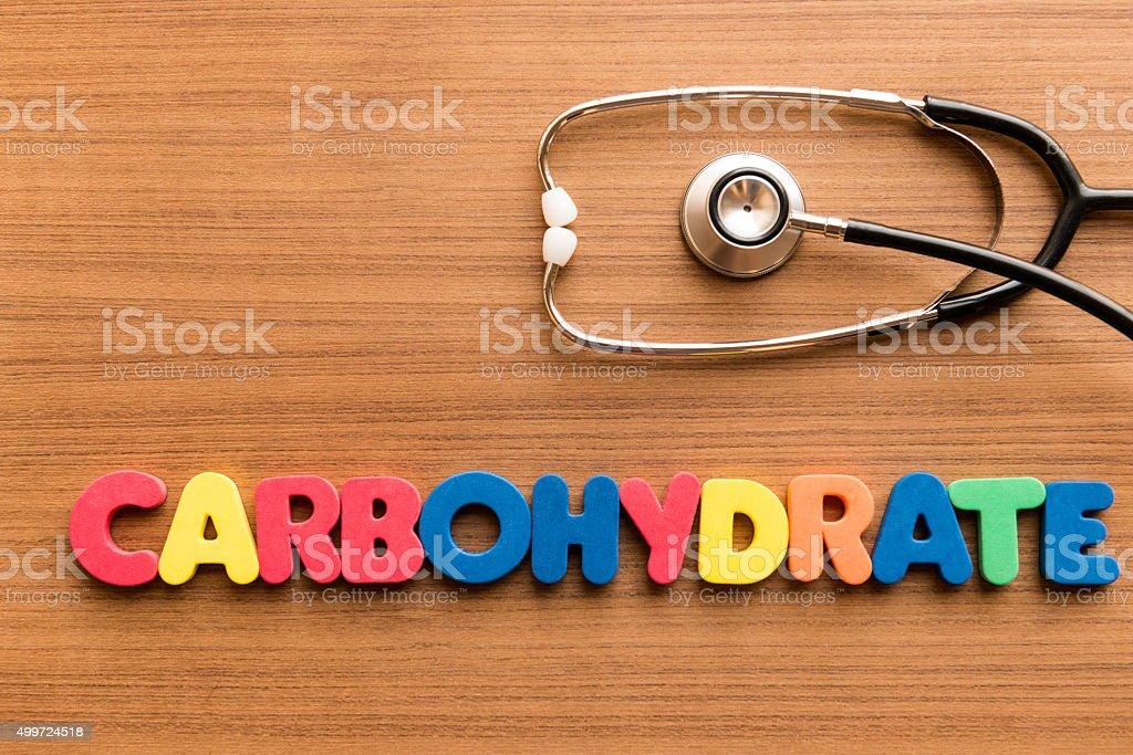 carbohydrate colorful word stock photo