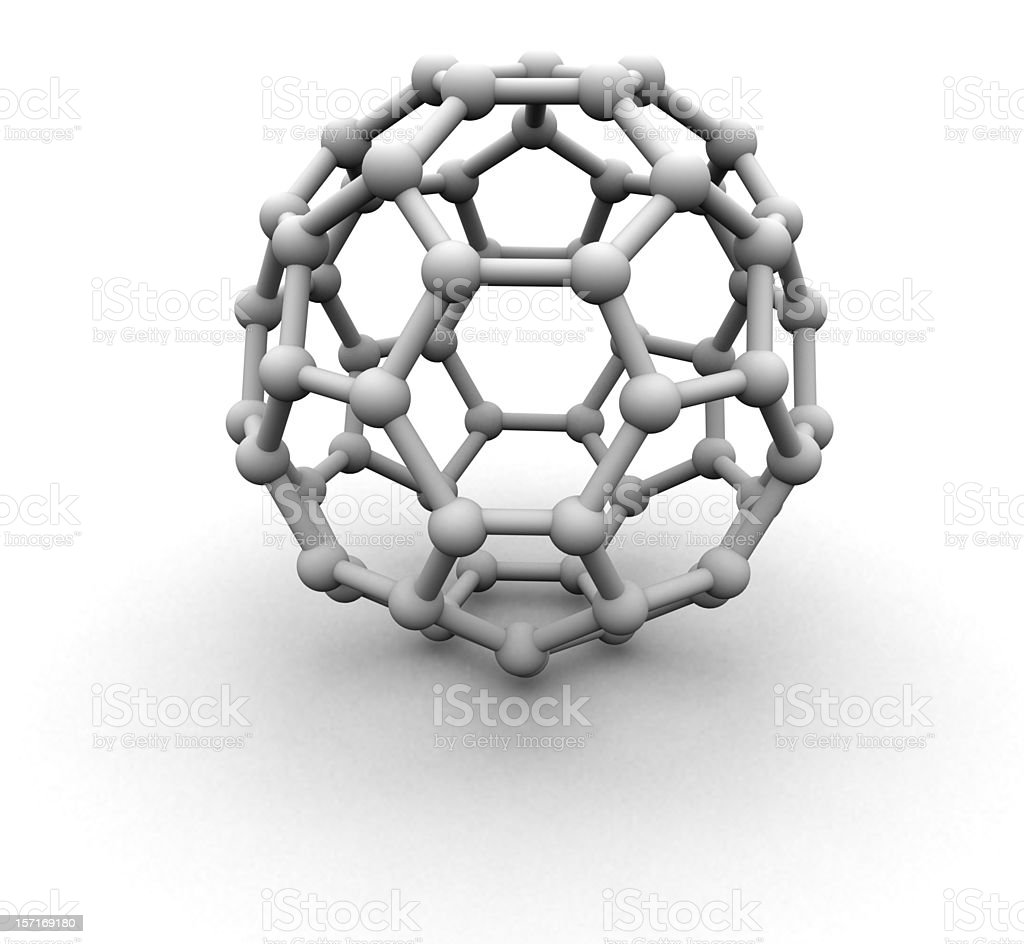 Carbon 60 molecule structure royalty-free stock photo