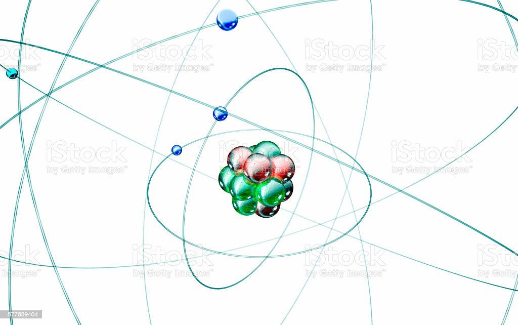 carbon atom isolated on white stock photo