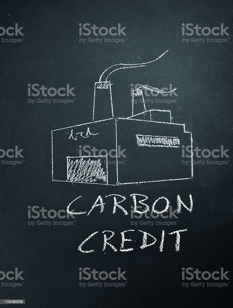 carbon credit stock photo