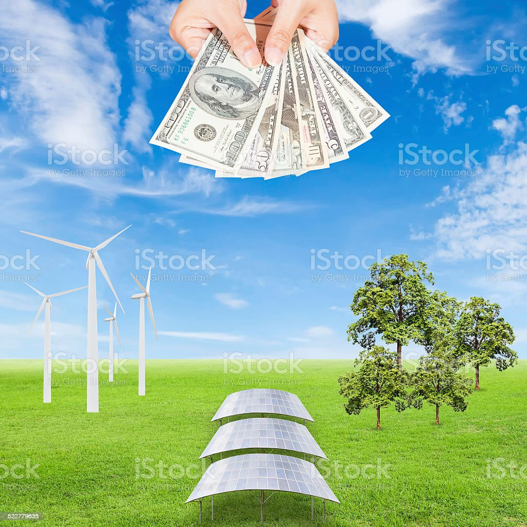 Carbon credits concept stock photo
