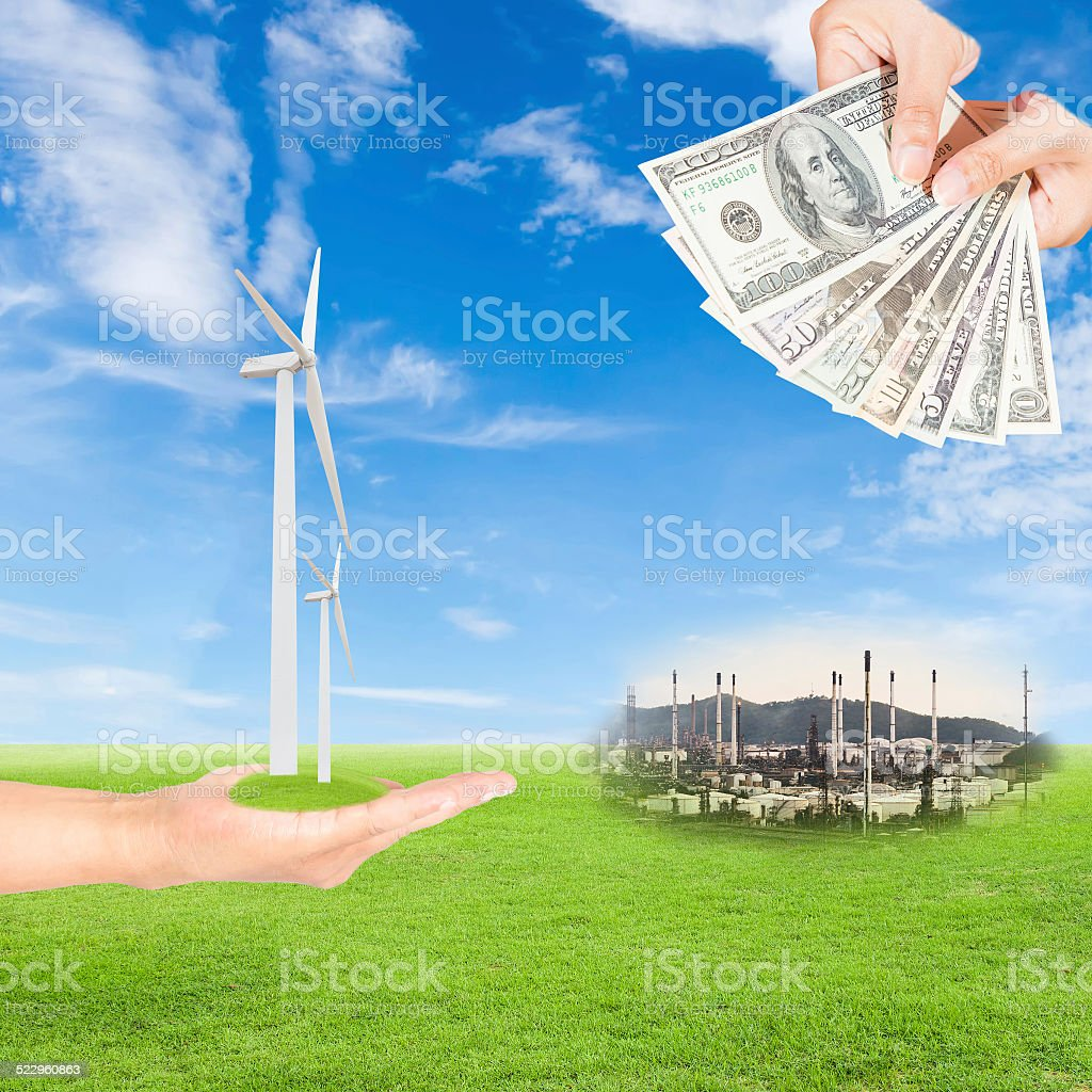 Carbon credits concept stock photo