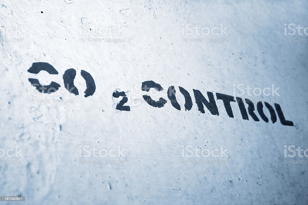 Carbon Dioxide control stock photo