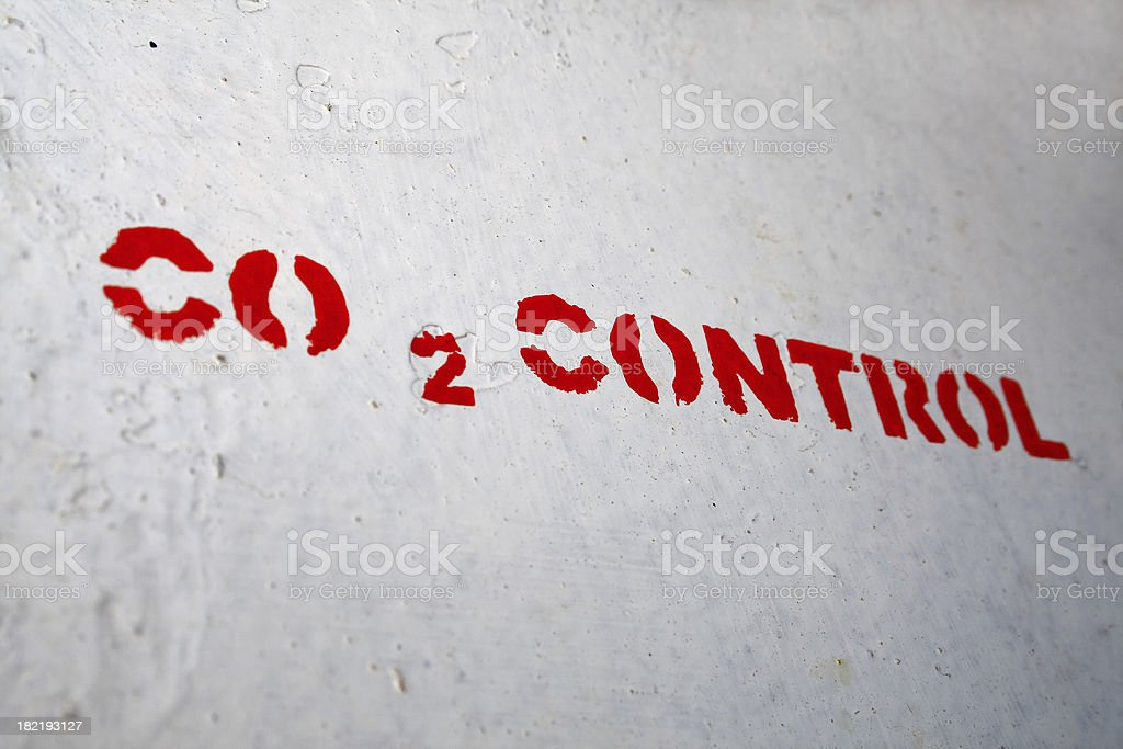 Carbon dioxide control royalty-free stock photo
