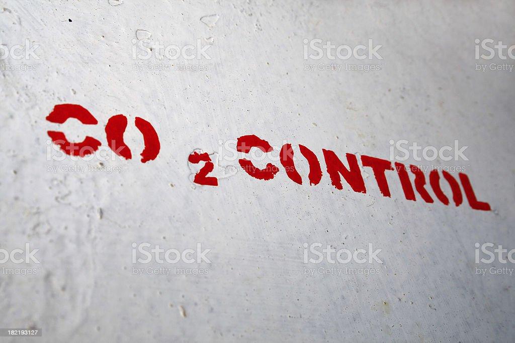 Carbon dioxide control stock photo