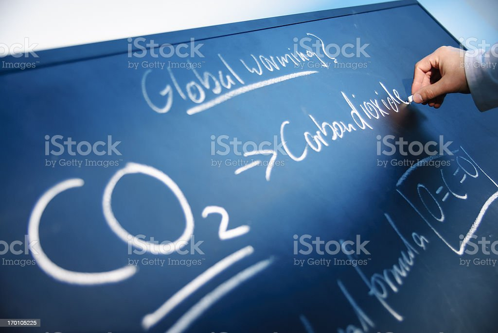 Carbon Dioxide royalty-free stock photo