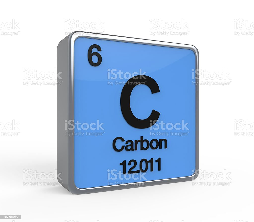 Carbon Element Periodic Table stock photo