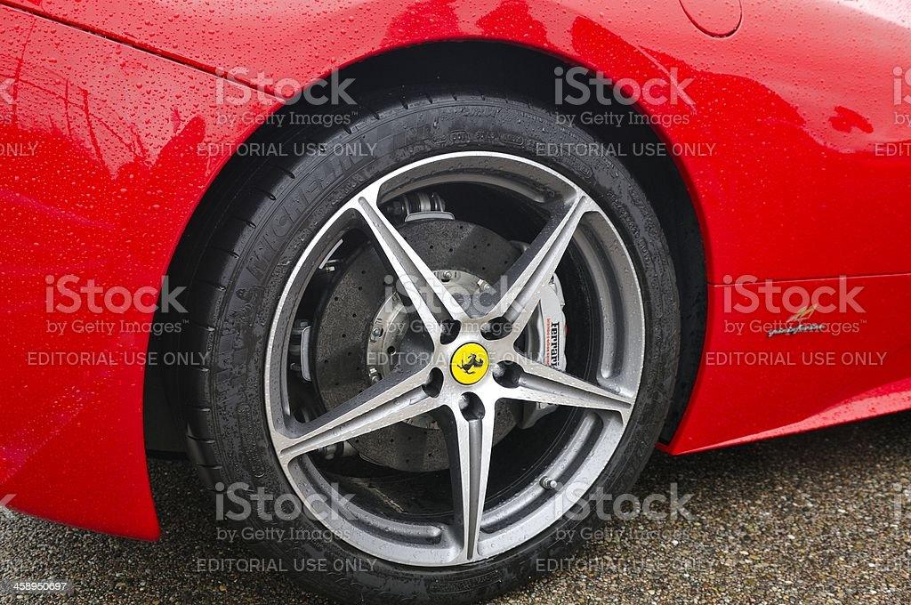 Carbon Ferrari Brake stock photo