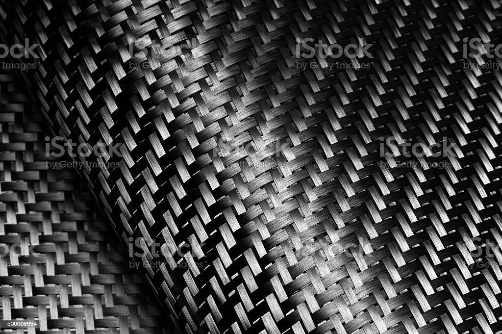 Carbon Fiber Cloth Fabric. stock photo