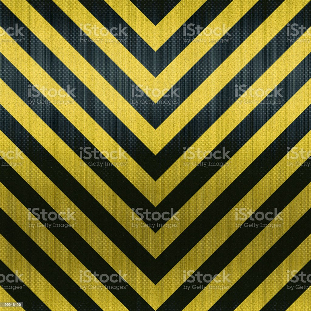 Carbon Fiber Hazard Stripes stock photo