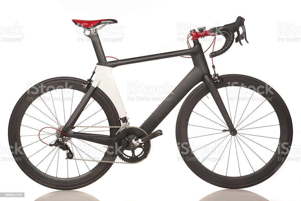 Carbon Fiber Road Bike stock photo