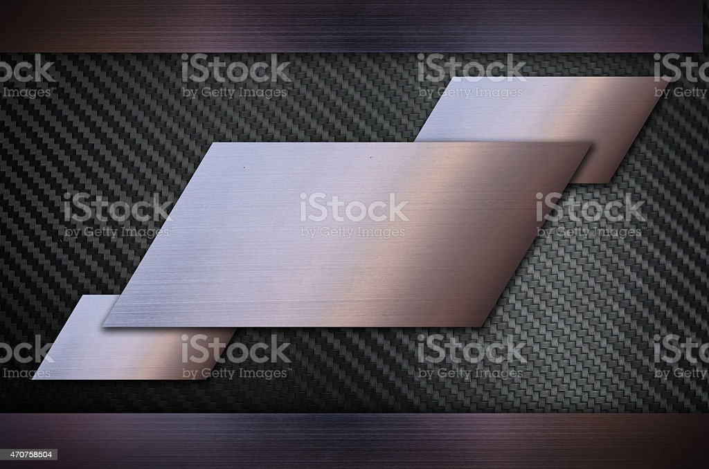 Carbon fiber with Stainless steel metal texture background stock photo