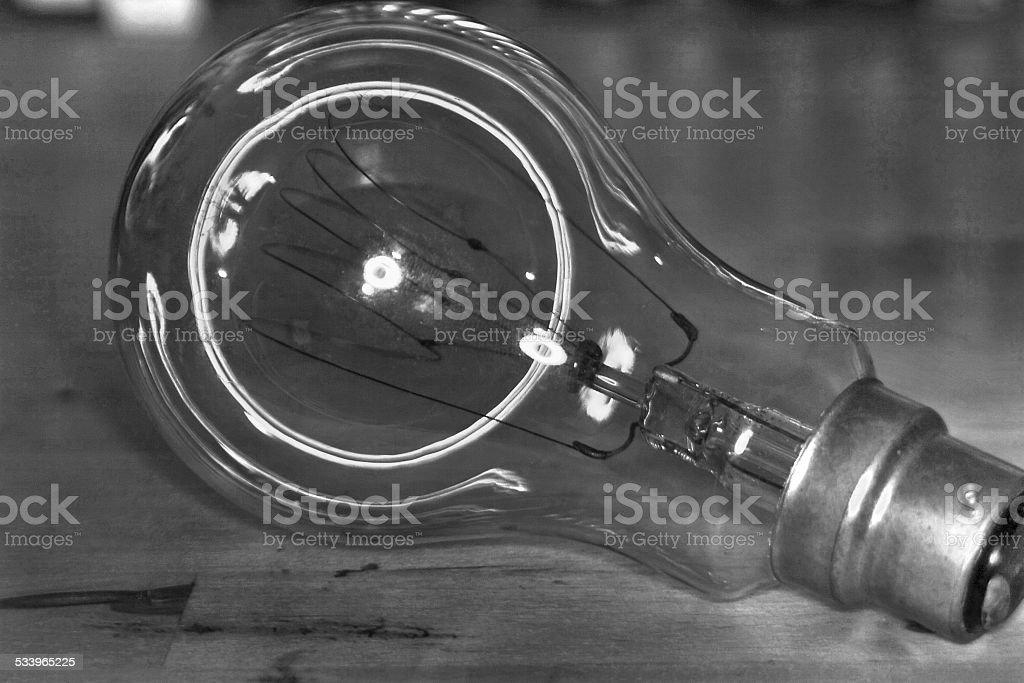 Filamento de carbono, bulb foto royalty-free