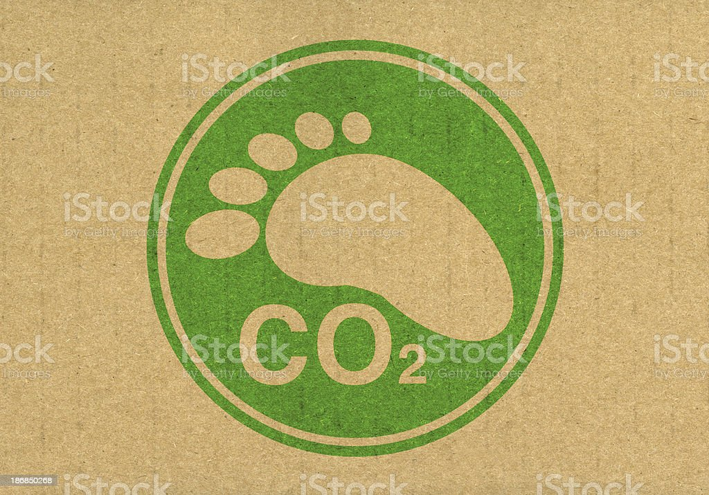 Carbon Footprint CO2 royalty-free stock photo
