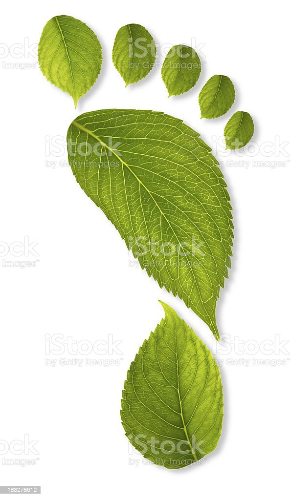 carbon footprint concept XXXL stock photo