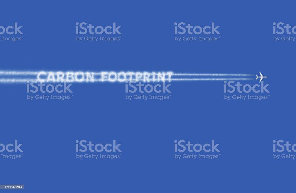 Carbon Footprint royalty-free stock photo