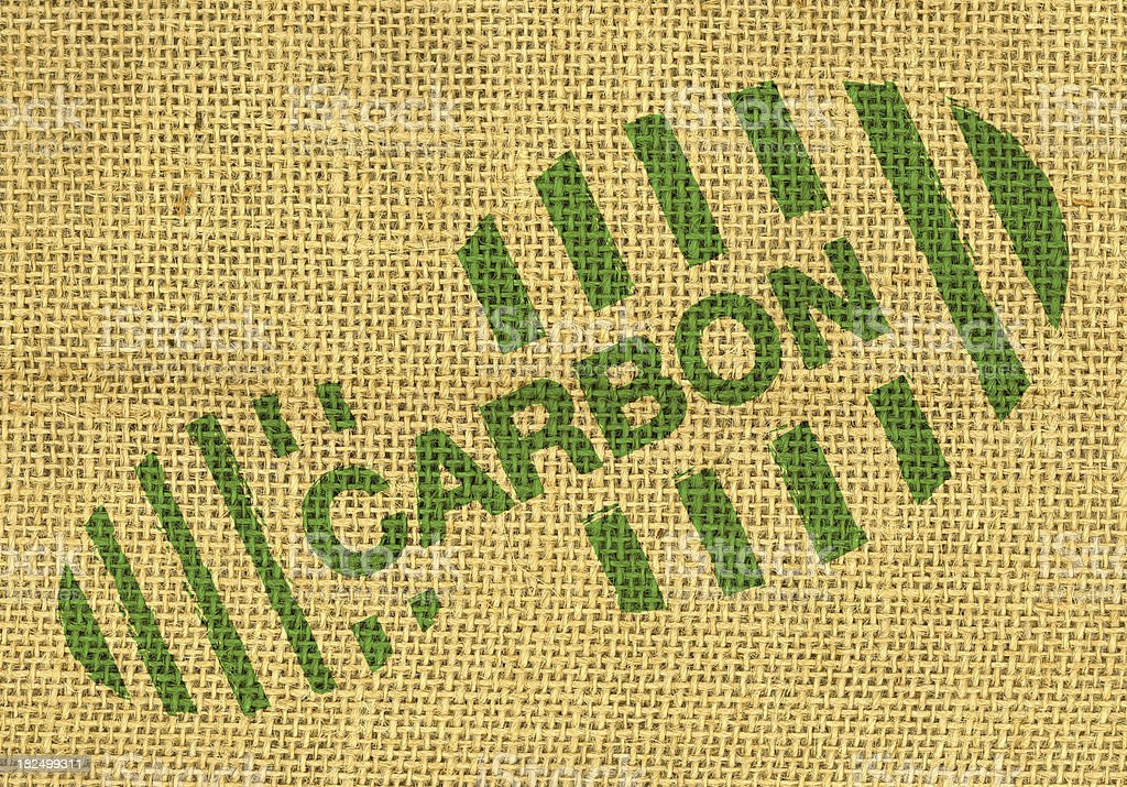 Carbon footprint stock photo