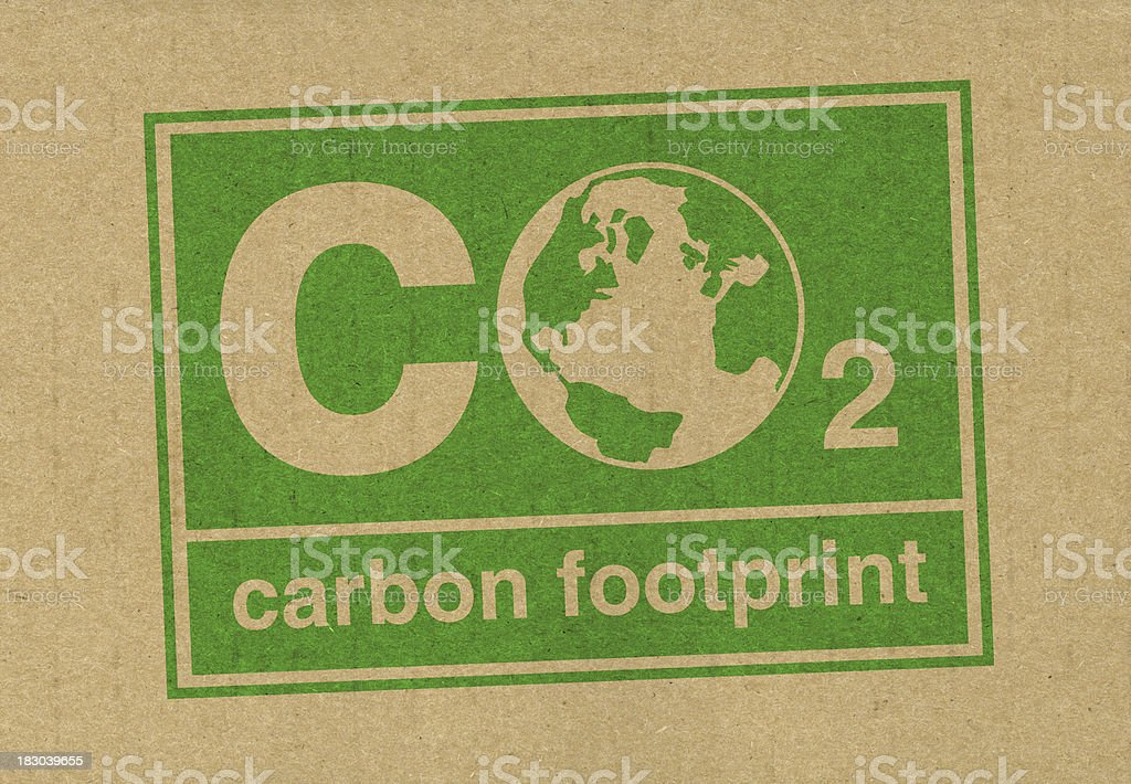 CO2 Carbon Footprint stock photo