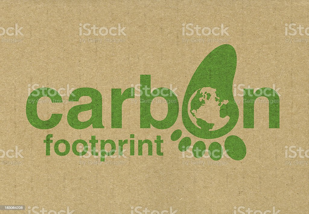 Carbon footprint royalty-free stock photo
